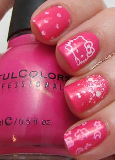 Here you go  Hello Kitty Lovers  your own nails  how cute!! I love them <3