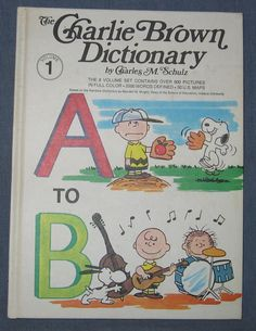 The Charlie Brown Dictionary Volume 1 A to B Hardcover Charles Schultz 1973