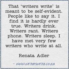 Quotable - Renata Adler - Writers Write Creative Blog