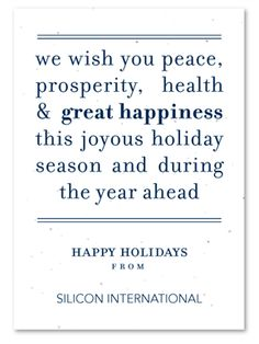 plantable corporate holiday cards on seeded paper peace message by green business print send your message of peace use these words or customize it with - Business Holiday Card Messages