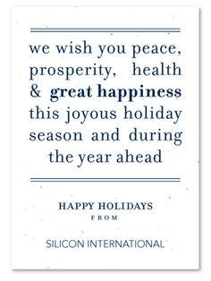 Festive seasons greetings on behance cards pinterest peace message plantable corporate christmas cardschristmas card messages business m4hsunfo