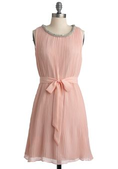 Such a pretty little blush dress!!! Look at that neckline <3