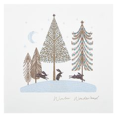 Buy Woodmansterne Trees In Forest Christmas Card Online at johnlewis.com