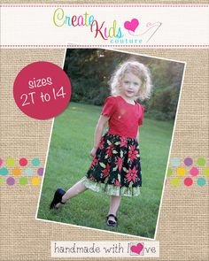 Create Kids Couture - Diana's Vintage Dress PDF Pattern, $4.00 (http://createkidscouture.com/dianas-girls.html)