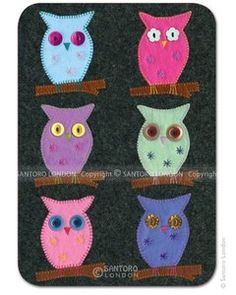 Santoro Eclectic Collection Postcard - Owls - http://www.stationeryheaven.nl/Santoro/EclecticCollection/Postcards