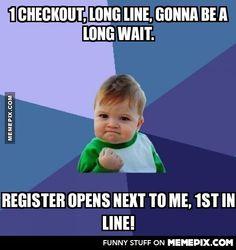 Long checkout line, no problem - MemePix    http://memepix.com/p4lsc