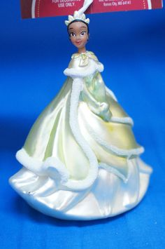 Disney Tiana Princess & Frog Blown Glass Figurine Christmas Ornament w/ Tag 2012