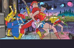 DC+Comics+Darwyn+Cooke+Variant+Cover+Month+-+Teen+Titans+#5.jpg (1200×790)