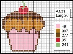 Pixel Image, Cross Stitch Flowers, Counted Cross Stitch Patterns, Hama Beads, Donuts, Sewing Crafts, Easter, Knitting, Crochet