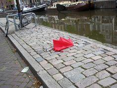de rode paraplu