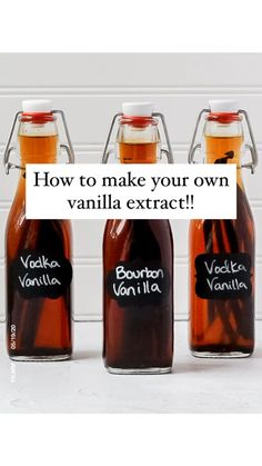 Homemade Spices, Homemade Seasonings, Homemade Gifts, Homemade Liquor, Diy Food Gifts, Vanilla Extract Recipe, Vanilla Recipes, Vanilla Paste, Vanilla Flavoring