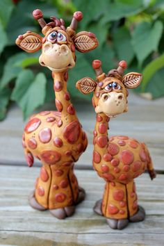 Pair of Giraffes by Miranda Farrand of Miranda's Critters