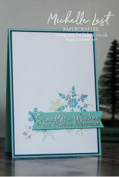 Christmas Cards To Make, Simple Christmas, Christmas Crafts, Banner Design, Simple Designs, Thank You Cards, Cardmaking, Snowflakes, Stampin Up