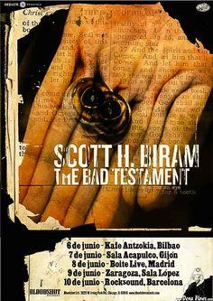 SCOTT H. BIRAM | Kafe Antzokia (Kutxa beltza), Bilbao, 6/VI/2017 | Cartel de Scott H. Biram | GALERÍA completa || Full GALLERY: | http://denaflows.com/galerias-de-fotos-de-conciertos/s/scott-h-biram/