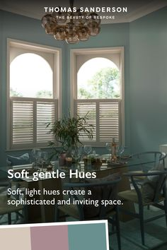 Create a cafe chic culture in your dining room, bring soft gentle hues to create a wamr, sophisticated and inviting space for your guests. See our range of shutters for your dining room.