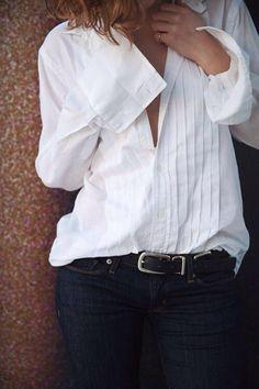 White shirt perfect neck line