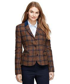 Wool Herringbone JacketBrown Multi // Brooks Brothers