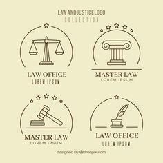 Set de logotipos de derecho vector gratuito S Logo Design, Icon Design, Buho Logo, Law Firm Logo, Lawyer Office, Lady Justice, H Logos, Logo Inspiration, Lettering