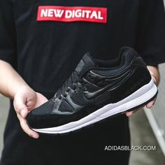 fb4b23bd08ae New Nike Air Span II Air Cushion Unisex Sports Casual Shoes Black White  2018 Super Deals