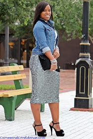 Curves and Confidence | Inspiring Curvy Women One Outfit At A Time: Weekend Wear: Denim and Sequins