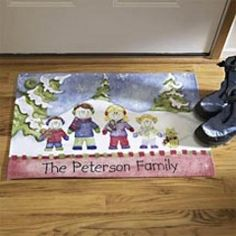 Customize the personalized doormat to decorate your house.