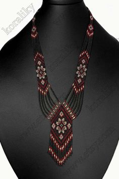 Traditional Ukrainian handmade folk glass beads from Koraliky Beaded Necklace Patterns, Beaded Earrings, Earrings Handmade, Beaded Hat Bands, Bead Loom Bracelets, Seed Bead Necklace, Glass Beads, Crafts, Hand Crafts