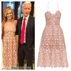 Live with Kelly: June 2016 Beth's Pink Lace A-Line Dress