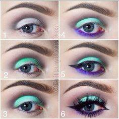 This eye makeup features a bright prism of colors to show off the trendy girl in you. Learn how to create this sassy look using these fab products.