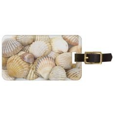 Sea Shells Collage Travel Bag Tags