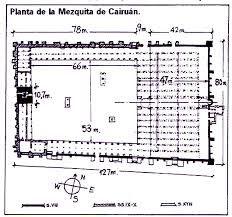 Planta de la Mezquita de Kairuán