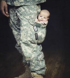 Army baby <3 Not sure our baby will ever be small enough for a pocket. #mastersgibbsgiantbabies