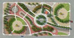 planos de parques en 3d #LandscapePark