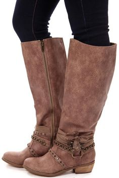 Lime Lush Boutique - Taupe Chain and Gem Tall Boot, $89.99 (https://www.limelush.com/taupe-chain-and-gem-tall-boot/)