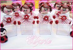 Boneca florzinha para aplique em biscuit caixinha 5x5    Pedido minimo 10 peças...!