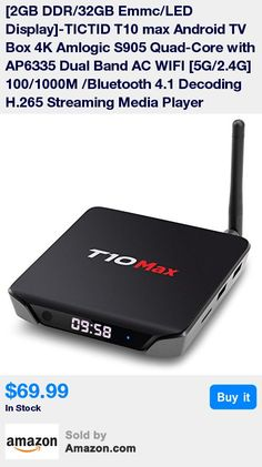 [Wonderful CPU & GPU]-TICTID T10 Max tv box is with the Android 5.1 operating system, powered by Quad core Amlogic S905 Cortex A53 CPU, includes a Mali-450 5-Core GPU up to 2GHz. Its ultrahigh quality and configuration provides you with ultra-fast running speed and professional graphic processing ability. Android 5.1 has a great compatibility of software,which gives you access to all your favorite apps. Now you can enjoy easily HD movies, the latest Android games. * [2GB DDR3+32GB eMMC-Rapid