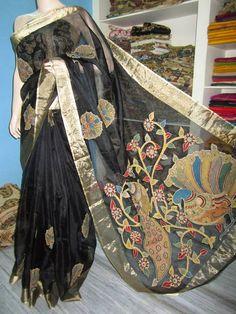 KALAMKARI - JAYANTH KALAMKARI DESIGNS: Kalamkari saree