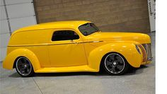 sectioned 1940 ford Panel Truck, Custom Vans, Ford Trucks, Hot Rods, Cool Cars, Chevy, Transportation, Classic Cars, Automobile