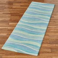 The Seascapes Coastal Area Rug Mimics Undulating Surf Along Open Ocean As Waves Move Together In Harmony