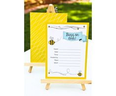 Bee-utiful Bumblebee Theme Invitations