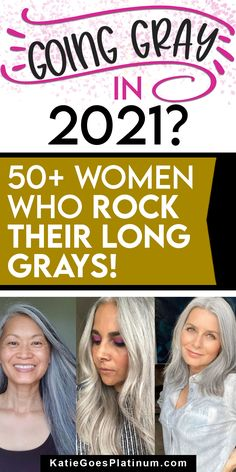 Does long grey hair over 40 or over 50 make you look older? Are you too young to have long gray hair in your 30s? Absolutely not! Feathered Hairstyles, Up Hairstyles, Haircuts, Long Silver Hair, Short Grey Hair, Grey Hair And Glasses, Grey Hair Transformation, Grey Hair Inspiration, Transition To Gray Hair