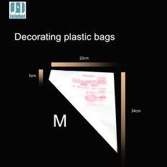 100 pcs Medium Size Disposable Piping Decorating Bags
