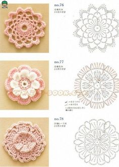 arts and craft books: motif & edging designs magazine, free crochet books - crafts ideas - crafts for kids Mode Crochet, Crochet Diy, Crochet Motifs, Crochet Flower Patterns, Crochet Diagram, Crochet Books, Crochet Chart, Crochet Squares, Irish Crochet