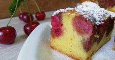 Pandispan cu iaurt si visine Thing 1, Cheesecake, Deserts, Candy, Baking, Recipes, Sweets, Cheesecakes, Bakken