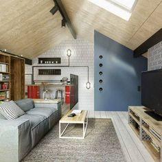 Dachgeschoss Einrichten   Wohnung Mit Charme, Die Doch Eine Interieur  Herausforderung Ist.Auf Dem Dach Zu Wohnen, Kann Attraktiv Erscheinen,  Nicht Aber .