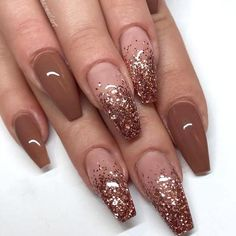 The advantage of the gel is that it allows you to enjoy your French manicure for a long time. There are four different ways to make a French manicure on gel nails. The choice depends on the experience of the nail stylist… Continue Reading → Brown Acrylic Nails, Brown Nails, Best Acrylic Nails, Acrylic Art, Brown Nail Art, Long Nail Designs, Ombre Nail Designs, Art Designs, Brown Nail Designs
