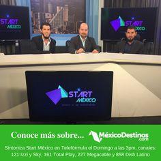 Te invitamos este domingo 9 de octubre a las 3:00 pm a sintonizar el programa Start México por Telefórmula para que conozcas más sobre México Destinos ¡Ofreceremos una Promoción Exclusiva! Canales para verlo: *121 en IZZI y SKY, *161 en Total Play, *227 en Megacable, *858 en Dish Latino #StartMéxico #SNE #SemanaNacionalDelEmprendedor #Telefórmula #México #Viajes #Viajeros