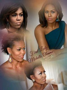 Beautiful First Lady Michelle Obama ❤