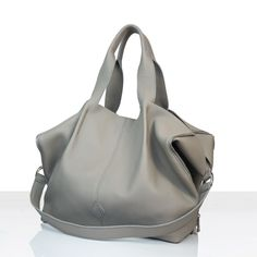 Torba worek - tote bag,wykonana ze skóry naturalnej bydlęcej o strukturze Shopper Bag, Zipper Bags, Taupe, Fashion, Beige, Moda, La Mode, Fasion, Fashion Models