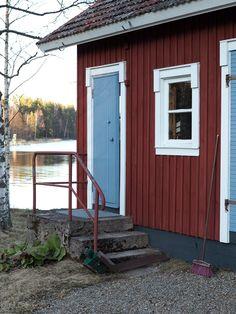 Mökki / summer house. Garage Doors, Shed, Outdoor Structures, Outdoor Decor, House, Home Decor, Decoration Home, Home, Room Decor