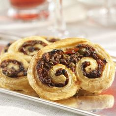 Black Olive and Sundried Tomato Palmier